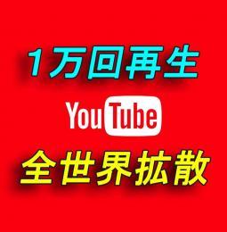 YouTube 再生回数1万回増加【30日間の減少保証付】