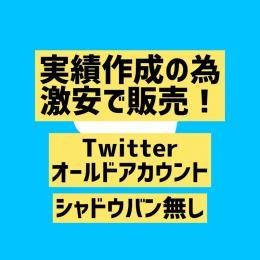 【シャドウバン無し】Twitterオールド垢×4