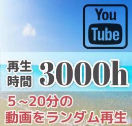 見栄えNO1!🟥5分~20分の全ての動画を再生🟥 再生時間増加 +3000時間付与 90日保証