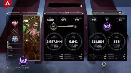 【PS4】【値段交渉可!】S8マスター ライフラスパレジェ所持 スキン多数アカウント