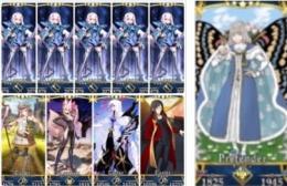 妖精ランスロット宝具5+キャストリア+孔明+マーリン+コヤンスカヤ+オベロン 石500-1000個