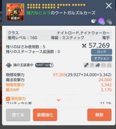 160赤紋章 クリダメ☆31篭手