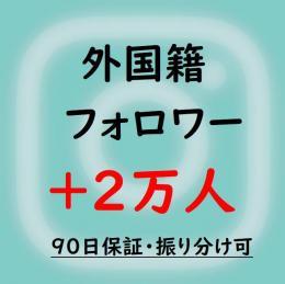 インスタフォロワー・振り分け可【多国籍】2万人増加・90日保証 ★小幅減少